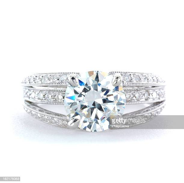 Woman's Diamond and Platinum Wedding Ring