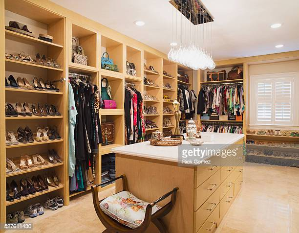 woman's dream - closet stock pictures, royalty-free photos & images