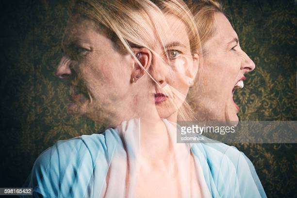 woman's emotional struggle - fury stock pictures, royalty-free photos & images