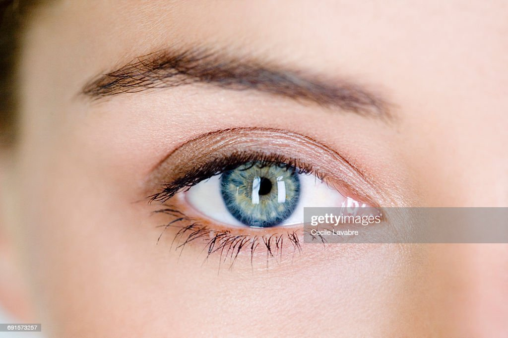 Woman's eye, close-up : Stock Photo