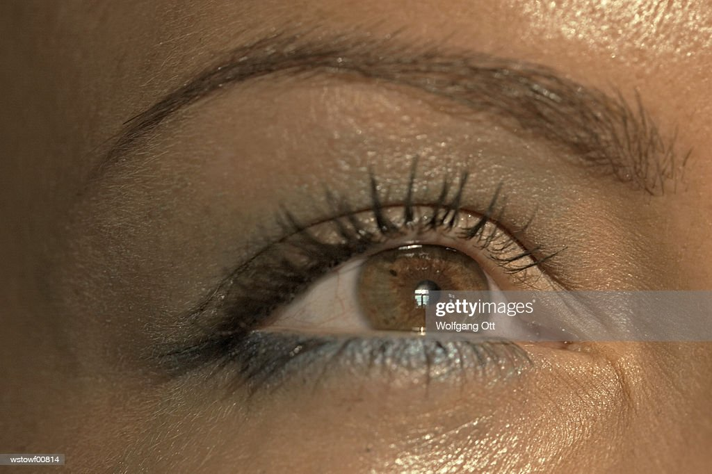 Woman's eye, extreme close up : Stock Photo