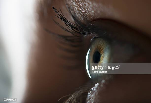 woman's eye - the way forward stock pictures, royalty-free photos & images