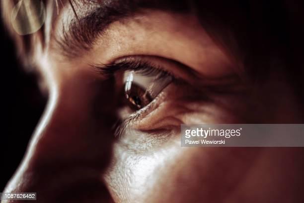 woman's eye - opwinding stockfoto's en -beelden
