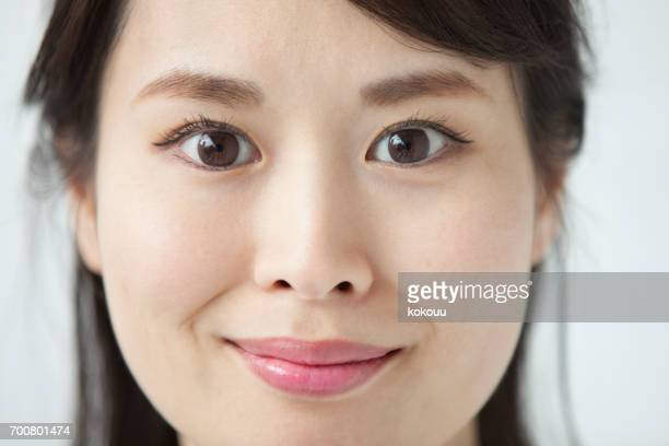 woman's face close up - human mouth stock pictures, royalty-free photos & images