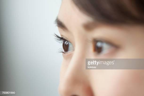 Woman's face close up