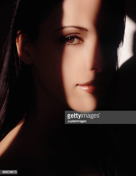 Woman's Face in Shadows