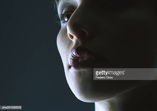 Woman's face, low angle view