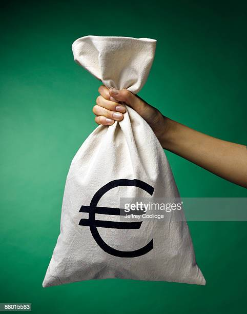 Woman's Hand Holding Money Bag