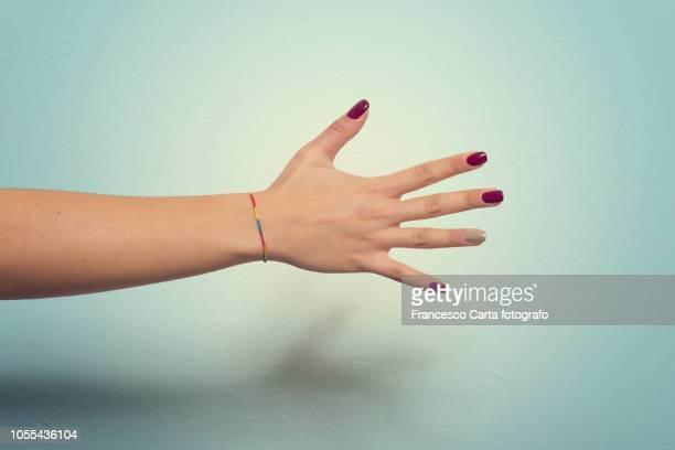 woman's hand - menselijke ledematen stockfoto's en -beelden