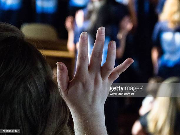 woman's hand. - pentecostalism stock photos and pictures