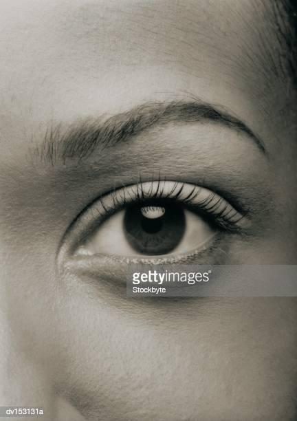 woman's left eye, straight on - left eye - fotografias e filmes do acervo