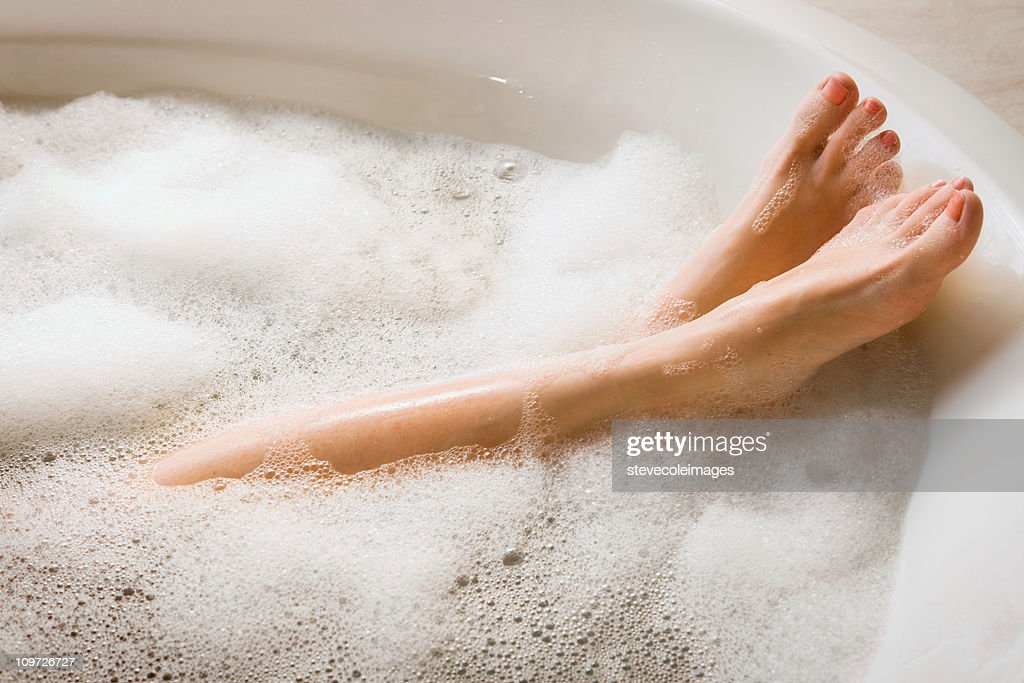 Womanu0027s Legs U0026 Feet In Bubble Bath