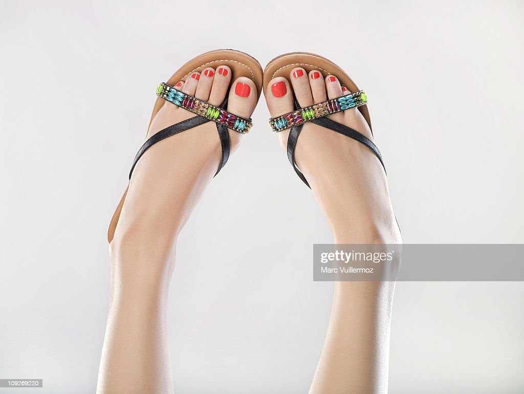 Woman's legs in the air : Stock Photo