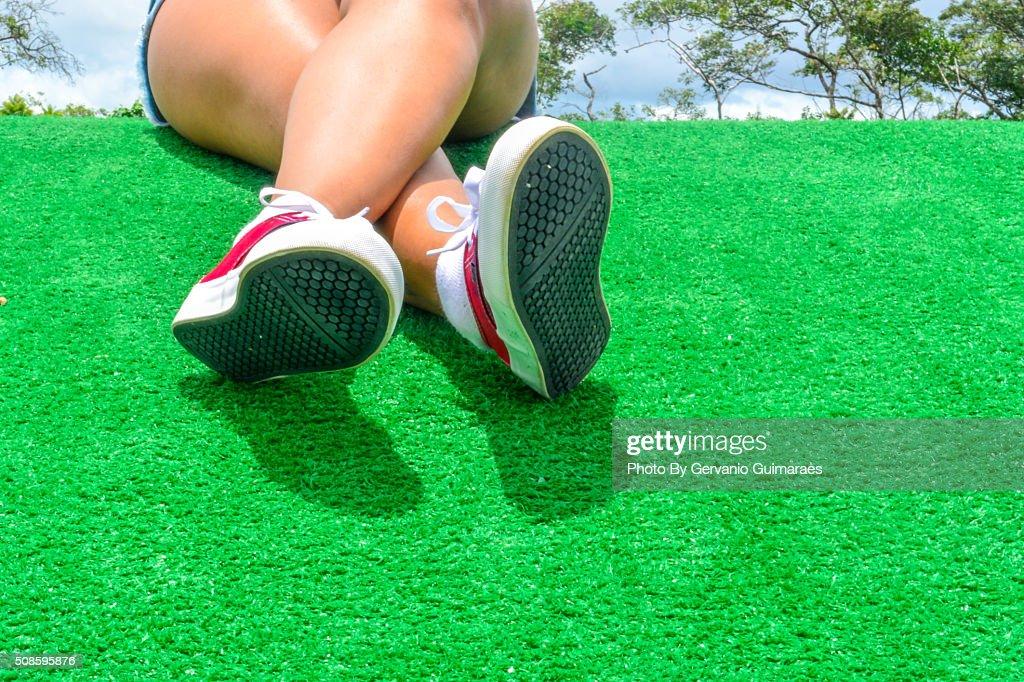 Woman's Legs : Stock Photo