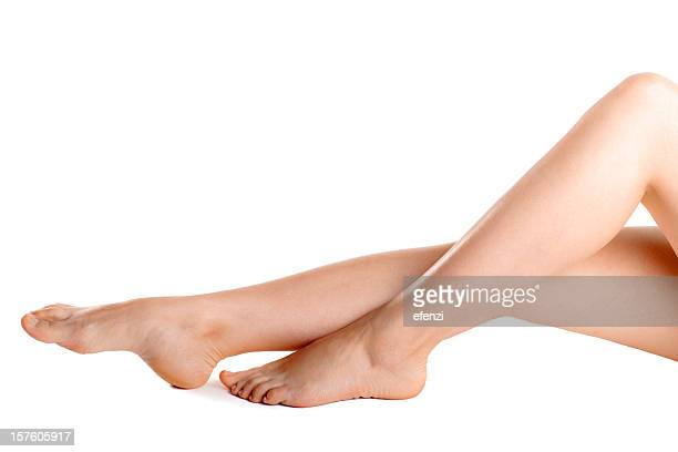 A woman's legs with clear skin