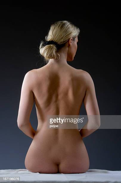 woman's nude back