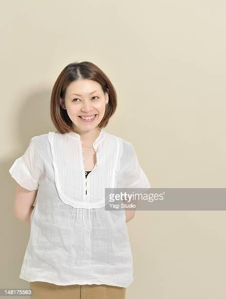 A woman's portrait , smiling