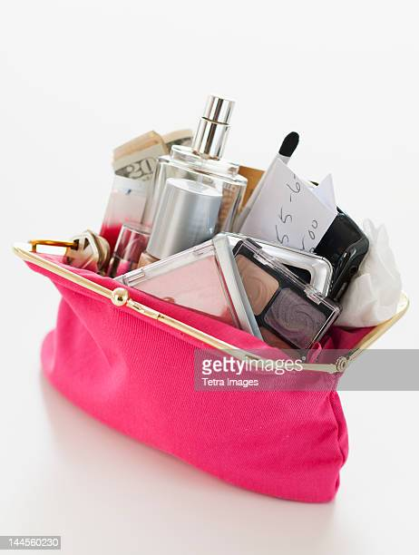 Woman's purse overflowing