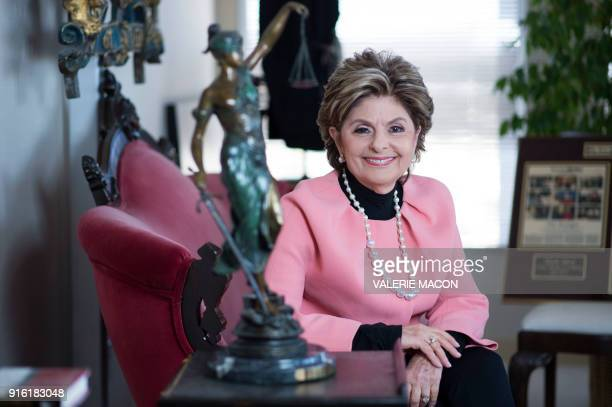 TOPSHOT Women's rights attorney Gloria Allred poses for a portrait session at her office on February 8 2018 in Los Angeles California Womens rights...