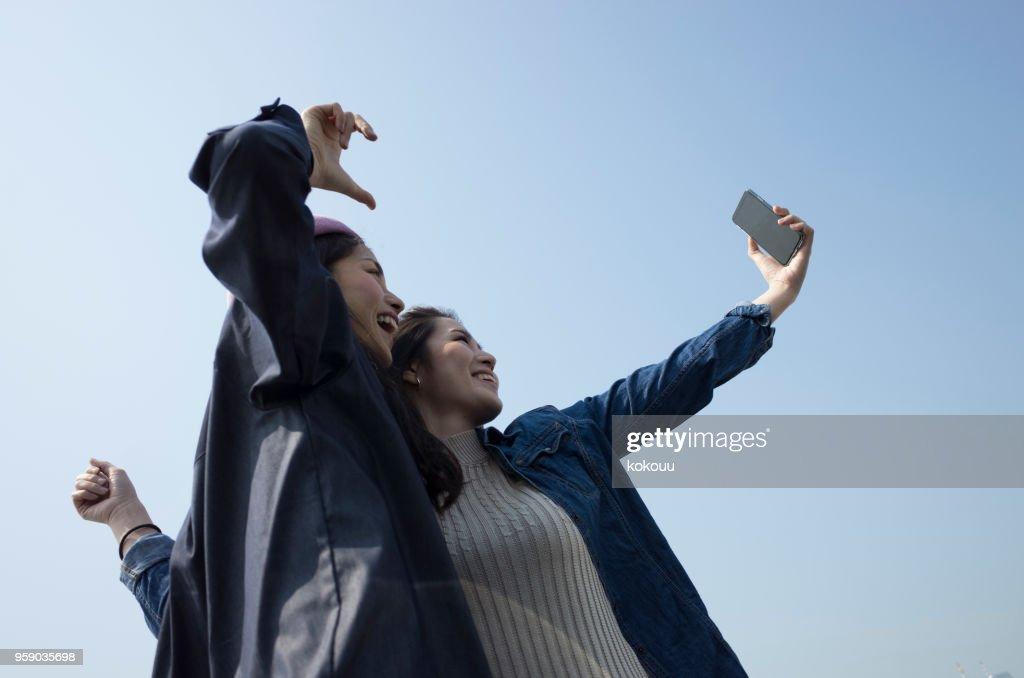 Woman's selfie : Stock Photo