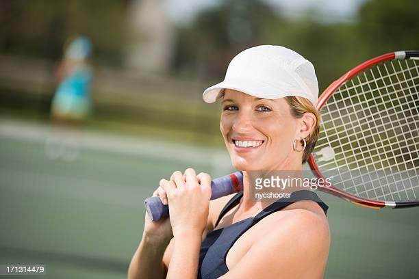 portrait de femme de tennis