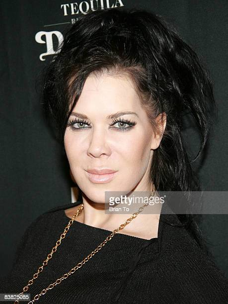 Woman's World Wrestling Foundation champion Chyna The 9th Wonder of the World poses at Special Los Angeles Premiere at the ICM Screening Room on...