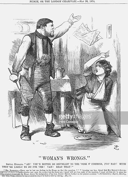 Woman's Wrongs 1874 A brutish workingclass husband prepares to beat his wife who still bears the insignia of previous violence The man tells his...