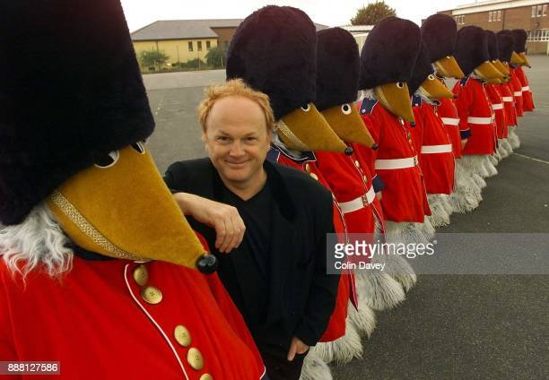 Wombles creator Mike Batt with members of the 1st Hillingdon And The 10th Ealing Boys Brigade dressed in Wombles costumes during practice for the...