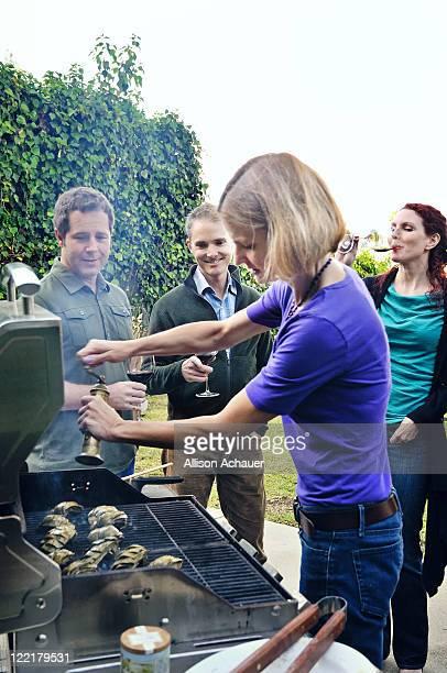 Women adding pepper