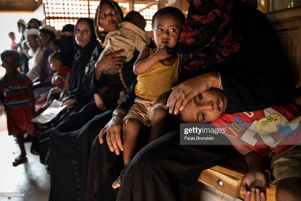 Rohingya Refugees Mark One Year Since The Crisis : News Photo