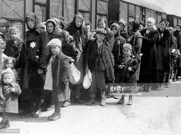 Women and children deported by train to death camps in Eastern Europe by the Nazi's c1942