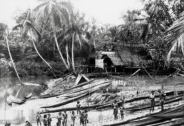 Women and children in a Sipura village in the Mentawai Islands 1904 Indonesia 20th century Washington National Museum Of Natural History Smithsonian...