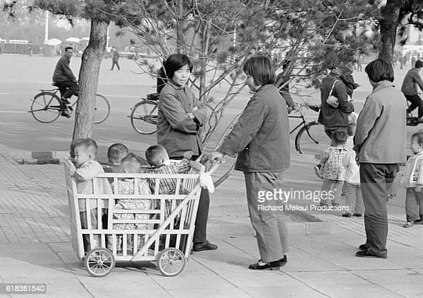 Women and Children in Tiananmen Square