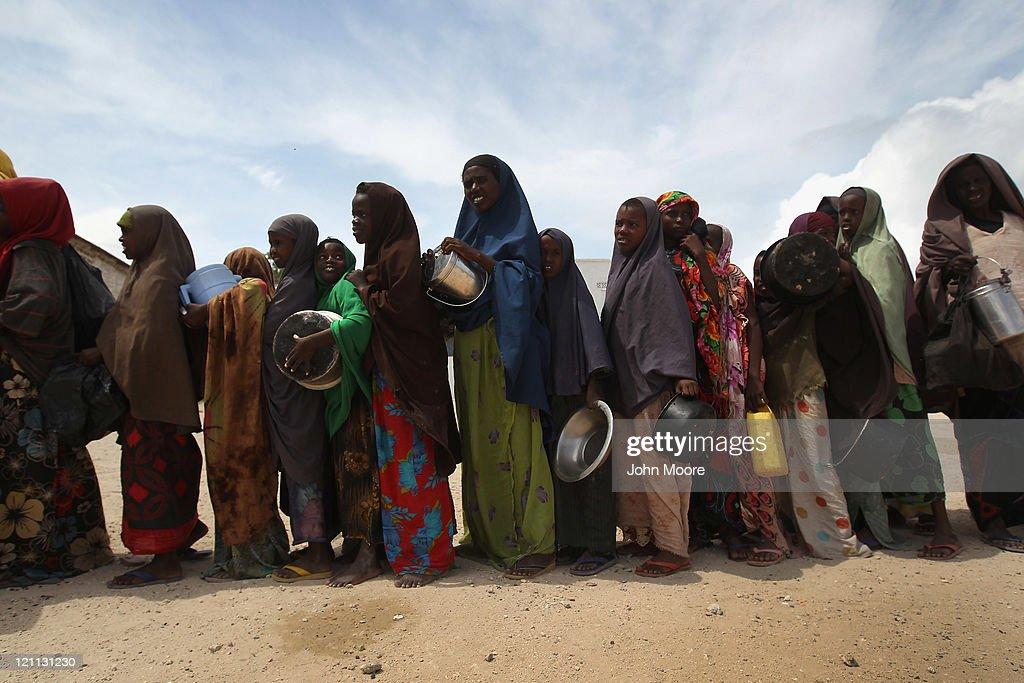 Somali Famine Refugees Seek Aid In Mogadishu : News Photo