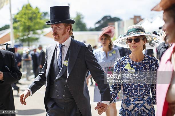 Women and men in elaborate hats attend day one of Royal Ascot at Ascot racecourse in Berkshire on June 16 2015 The 5 day showcase event which is one...