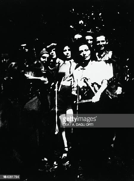Women and men of a partisan group on the Plateau of the Seven Communities World War II Resistance Italy 20th century Vicenza Museo Del Risorgimento E...