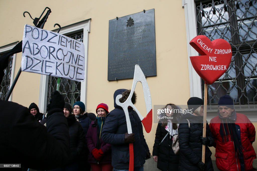 Women protest against proposal to restrict abortion in Poland