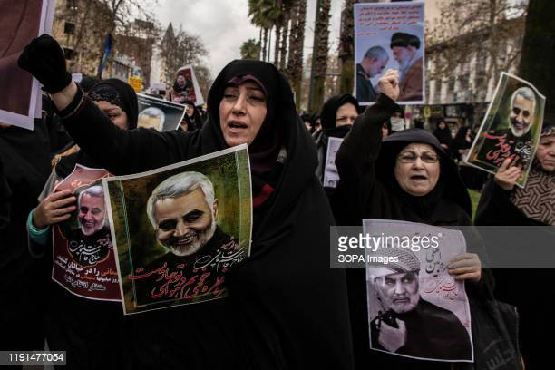 Women are protesting against the murder of General Qasem Soleimani. After the killing of General Qasem Soleimani, commander of Quds Force by the US...