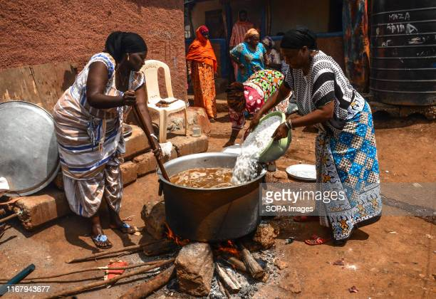 Women are seen prepairing meals during an Islamic wedding Ceremony in Kibera Slums The Nubian wedding always goes for three days of the week or more...