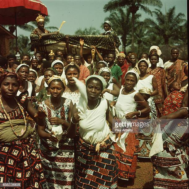 Women at a festival celebrating independence, in a village near the town of Palime, Togo.
