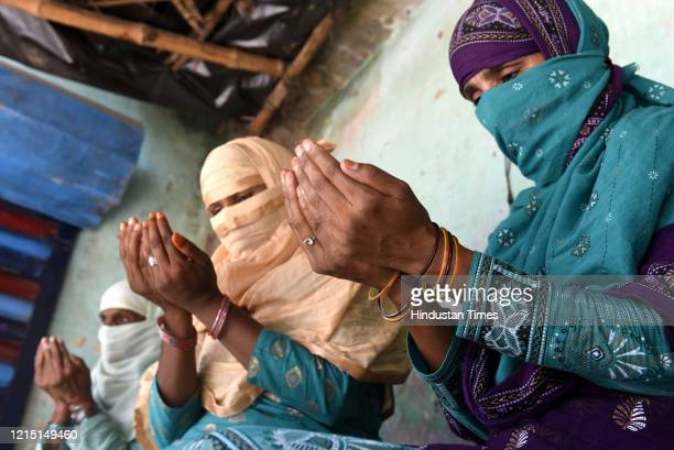 Women at a home in Bargadi Maghat village during the afternoon namaz on EidulFitr at Bakshi Ka Talab on May 25 2020 near Lucknow India