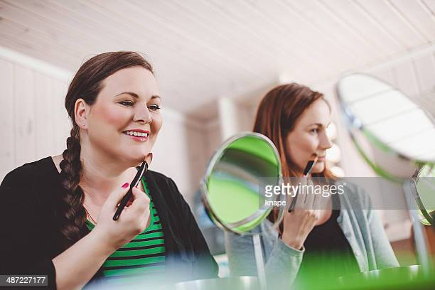 Women at a make-up home party