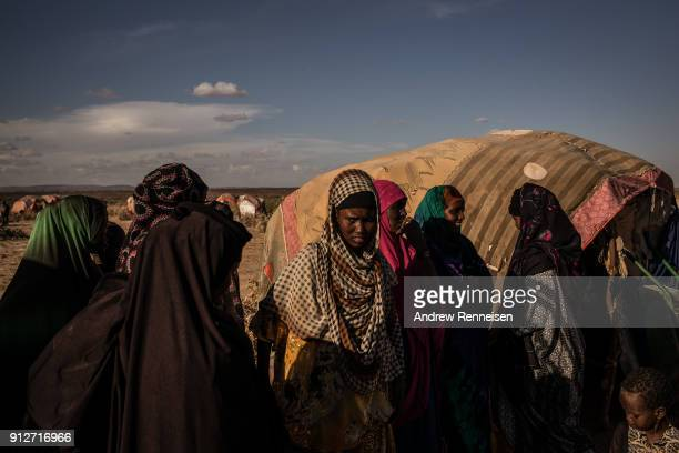 Women at an IDP camp outside of Ainabo In the last 3 months 447 pastoralist families have moved to the camp due to drought conditions Somalia is on...