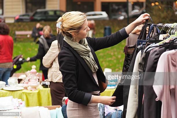 Women at an outdoor market.
