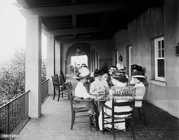 Women at Card Party Detroit Boat Club Belle Isle Park Detroit Michigan USA circa 1910