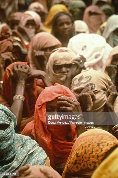 women at refugee camp, ethiopia - native african ethnicity stock photos and pictures