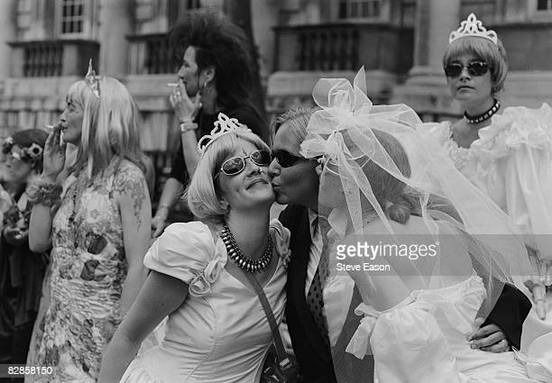 Women at the Gay Pride Mardi Gras parade in London 3rd July 1999