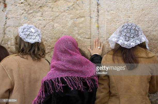 women at the wailing wall - israeli woman stock pictures, royalty-free photos & images
