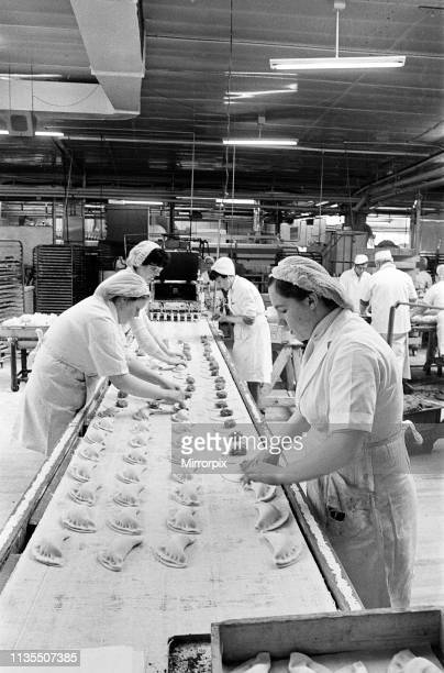 Women at work at Sparks Bakery, Stockton-on-Tees, 1974.