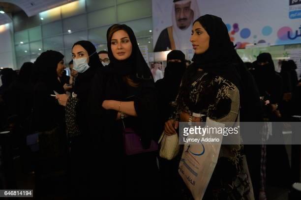Women attend a book fair in Riyadh Saudi Arabia on March 11 2015
